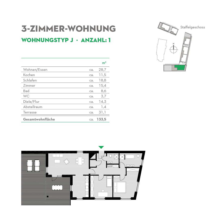 3 Zimmerwohnung Neubau - Typ J - Siebethsburg Wilhelmshaven