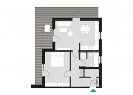 Grundriss Wohnungstyp D