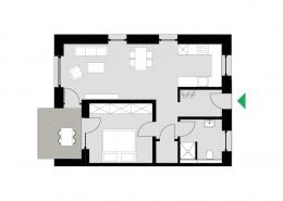 2-Zimmerwohnung Typ A