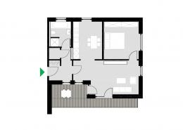 2-Zimmerwohnung Typ C