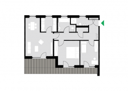 3-Zimmerwohnung Typ H