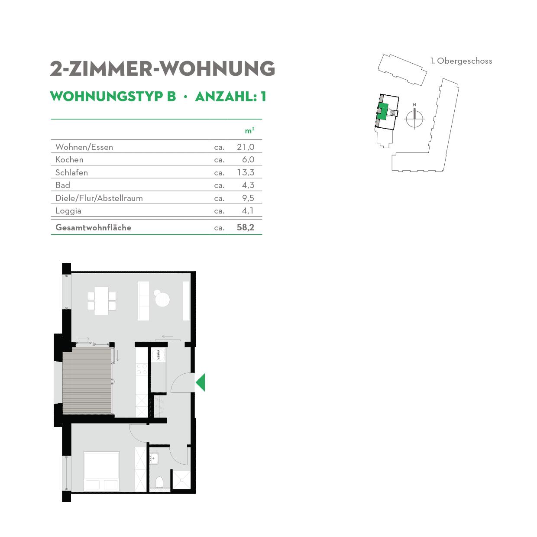 2-Zimmerwohnung Typ B